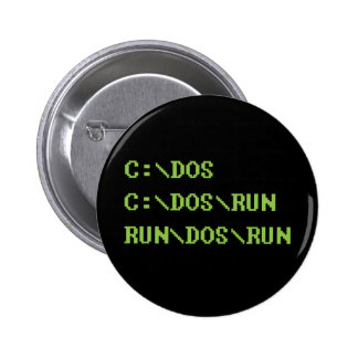 run dos run 6 cm round badge