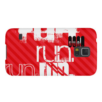 Run; Scarlet Red Stripes Galaxy S5 Cases