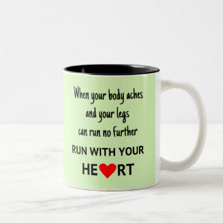 Run with your heart Two-Tone mug