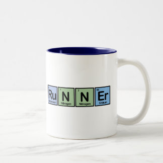 Runner made of Elements Two-Tone Mug