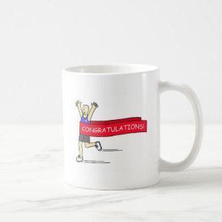 Runner with Congratulations banner. Basic White Mug