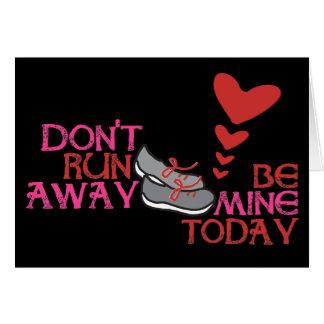 Running Valentine - Runner Valentine's Day Greeting Card