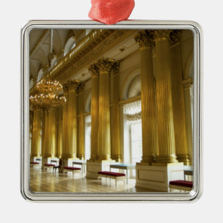 Russia, St. Petersburg, Winter Palace, The 3 Silver-Colored Square Decoration