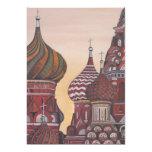 Russian Architecture 13 Cm X 18 Cm Invitation Card
