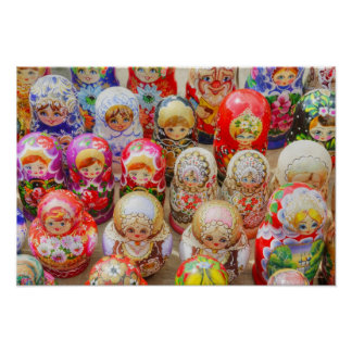 Russian Nested Dolls Poster