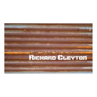 Rusted corrugated corroded metal, texture custom pack of standard business cards