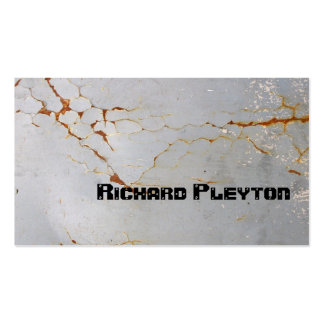 Rusted painted, corroded metal, texture custom pack of standard business cards