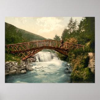 Rustic Bridge in Glenariff. Co. Antrim, Ireland Poster