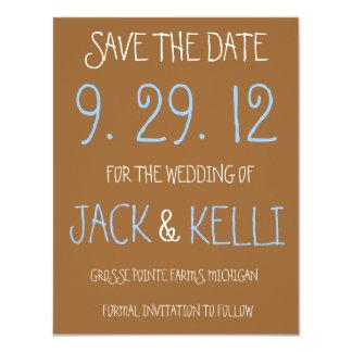 Rustic Brown Wedding Save-the-Date 11 Cm X 14 Cm Invitation Card