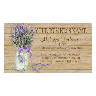Rustic Country Mason Jar French Lavender Bouquet Pack Of Standard Business Cards