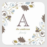 Rustic Fall Leaves Thanksgiving Holiday Stickers