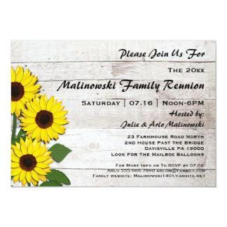 Rustic Family Reunion Sunflowers Invitations