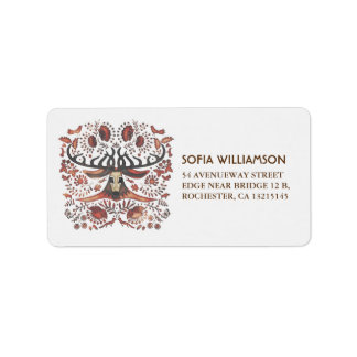 Rustic Forest Animals & Deer Wedding Address Label