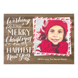 Rustic Hand Lettered Christmas 13 Cm X 18 Cm Invitation Card