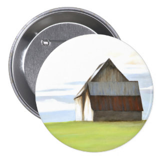 Rustic Old Barn 7.5 Cm Round Badge