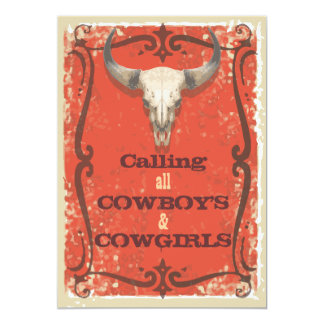 Rustic Western Party Invitation