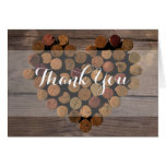 Rustic Wine Cork Thank You Notes Note Card