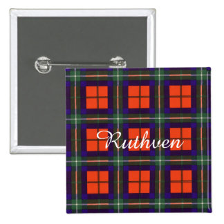 Ruthven clan Plaid Scottish tartan 15 Cm Square Badge