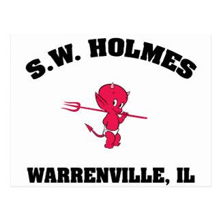 S. W. HOLMES  Elementary School Postcard