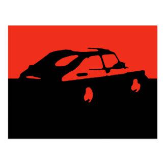 Saab 900 SPG/Aero - Red on dark postcard