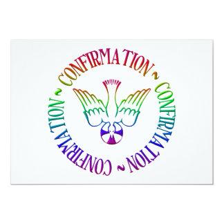 Sacrament of Confirmation - Descent of Holy Spirit 13 Cm X 18 Cm Invitation Card