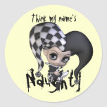 Sad Little Jester Round Sticker