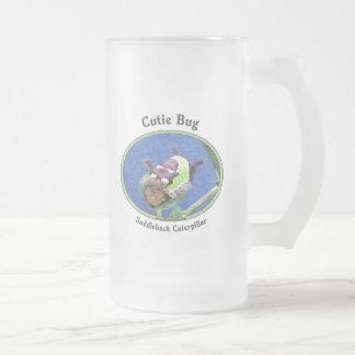Saddleback Caterpillar Cutie Bug Frosted Glass Mug