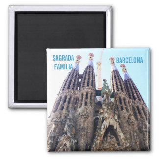 Sagrada Familia church Square Magnet