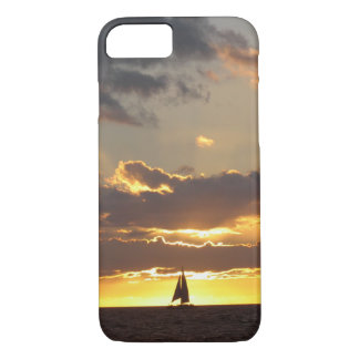 Sail boat at sunset iPhone 7 case