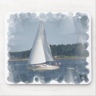 Sail Boat Bubbles Mouse Pad