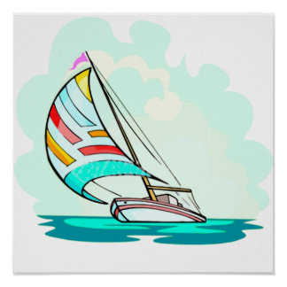 Sailboat in the Wind Poster