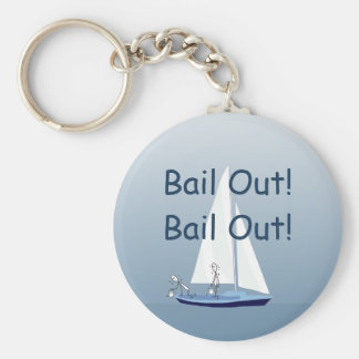 Sailboat Sailors Bail Out Funny Basic Keychain