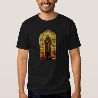 Saint Francis of Assisi Medieval Iconography Tee Shirt