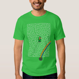 Saint Patricks Day Maze T-shirts
