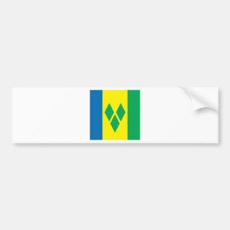 Saint Vincent High quality Flag Bumper Sticker