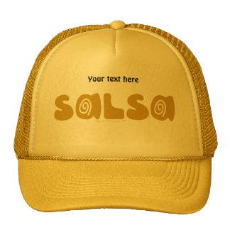 Salsa Dancing Gold Swirls Customizable Cap