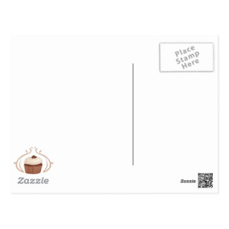 Salted Caramel Cupcake Postcard