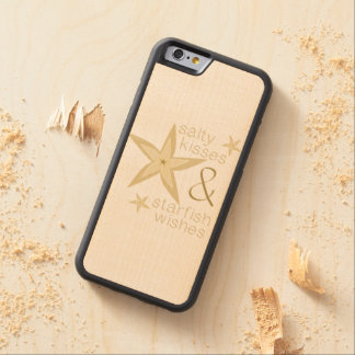 Salty Kisses Starfish Wishes Maple iPhone 6 Bumper Case