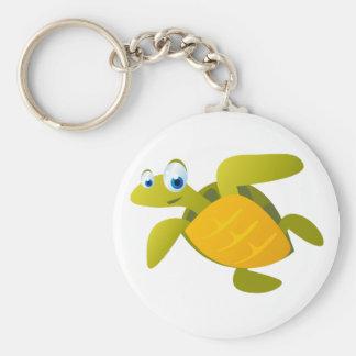 Sam The Sea Turtle Basic Round Button Key Ring