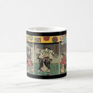 Samurai fighting ghosts and snakes c. 1850 basic white mug