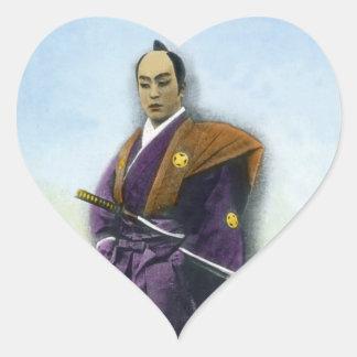 Samurai VIntage Japanese 侍 Heart Sticker