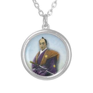 Samurai VIntage Japanese 侍 Round Pendant Necklace