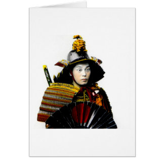 Samurai Warrior of Old Japan Vintage Warrior 侍 Greeting Card