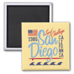 San Diego Surf Challenge 1986 Square Magnet