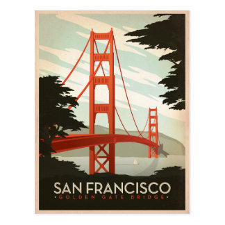 San Francisco, CA - Golden Gate Bridge Postcard