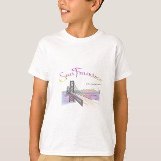 San Francisco, CA Golden Gate Rainbow Tshirt