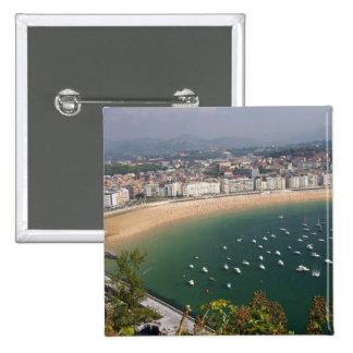 San Sebastian, Spain. The Basque city of San 15 Cm Square Badge