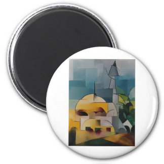 Sand Tower 6 Cm Round Magnet