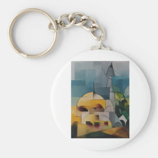 Sand Tower Basic Round Button Key Ring