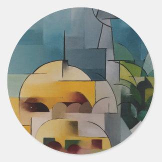 Sand Tower Round Sticker